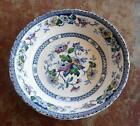 VINTAGE W.R. MIDWINTER WINDSOR BLUE W/ COLOUR BOWL JACOBEAN BURSLEM ENGLAND