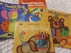 bear vintage coloring book lot / toy 1976 paint