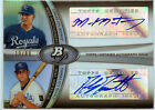 89 Moustakas Montgomery 2011 Bowman Platinum Refractor Dual AUTO RC Rookie SP