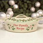 Lenox Holiday Covered Casserole Baking Serving Dish Excellent Condition