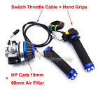 Racing CarburetorAir FilterThrottle Grips  Cable Switch 50cc 80cc Gas Bicycle