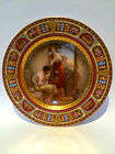 ROYAL VIENNA HAND PAINTED PORCELAIN PLATE,GOLD AND ENAMEL DECORATIONS,AS-IS