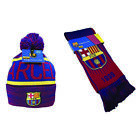 FC Barcelona Scarf and Beanie  Winter Lionel Messi Jersey Soccer  New Season