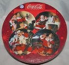 4 NEW Sakura Oneida  Coca Cola SALAD PLATES HOLIDAY PORTRAIT Santa Coke