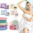 2 Pcs/Set Face Hand Bath Sheet Towel Plain Soft Beach Travel Sports Cloth Sauna