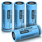2x 18500 1400mAh 3.7V Li-ion Rechargeable Battery For Torch Falshlight PKCELL
