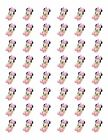 48 BABY MINNIE MOUSE ENVELOPE SEALS LABELS STICKERS 12 ROUND