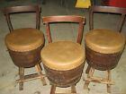 WOOD SWIVEL BARREL CHAIRS