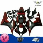 Fit for Honda 2007-2008 CBR600RR Injection Black Red ABS Fairing Plastic aD3