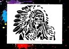 Indian Chief 02 Airbrush StencilTemplate