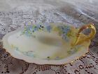 EG Royal Austria Hand Painted Dish with Handle - Pink Blue Flowers