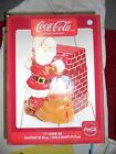 BRAND NEW COCA COLA SANTA BY FIREPLACE CERAMIC COOKIE JAR BY GIBSON 11