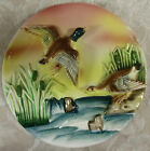 High Gloss Vibrant Ceramic Vintage Wall Plaque Canada Geese 3D 7