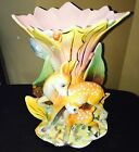Doe large Floral Pottery - signed Italy- Beauty Vase