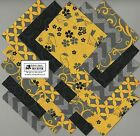 40 4 Yellow  Gray Fabric Squares Quilt blocks Kit Calico Charm Packs 09 0792