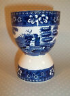 Antique BLUE WILLOW Egg Cup Floral Pattern Boarder  -N45-