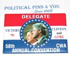 1996 BILL CLINTON campaign pin pinback button political presidential election