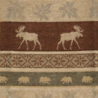 ACCENT PILLOW SHAM MOUNTAIN LODGE CABIN RUSTIC LEAVES BEAR MOOSE 20X20 PILLOW
