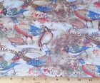 Pheasants Fabric by Yard 100% Cotton