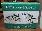 Fitz & Floyd GAME NIGHT Snack Plates - MIB - Royal Flush Clubs & Spades #2078/71