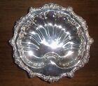 Vintage Silverplate Serving Bowl Old English by Poole 5925 Footed Shell Shape