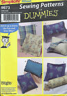 S9873 PILLOWS Flange Cording SQUARE Rectangle NECKROLL SEWING PATTERN