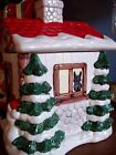 SCOTTIE CHRISTMAS COOKIE JAR HAND PAINTED  SANTA SCOTTISH TERRIER ART TREAT OOAK