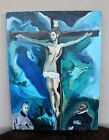 Abstract Art JESUS CHRIST Crucifix Cross Oil on Canvas Painting Modern Christian