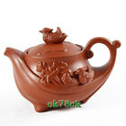Premium Yixing Zisha Purple Clay Tea Pot Zhu Mud Mandarin Ducks Teapot WHOLESALE
