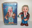 COOL 1960's BATTERY OPERATED BLUSHING WILLY BARTENDER TIN BAR TOY really pours!