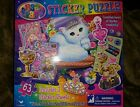 NEW Lisa Frank Sticker 63 Piece Puzzle  **** Cute Kitty  **** 3 Sticker Sheets!!