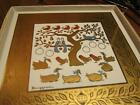Vintage 1960 Swedish Berggren Christmas Tile Trivet Sixth Day of  Geese a-laying