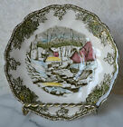 JOHNSON BROS. THE FRIENDLY VILLAGE THE ICE HOUSE set 2 Saucers Plates 5,5