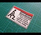 WARNING CHOKING HAZARD Jeep Ute Truck JDM Reflective Decal Sticker