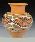 Common Ground Pottery, Monarch Butterfly vase, Eric Olson art pottery, art craft