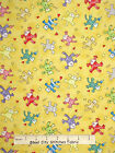 Paw Print Fabric - Happy Catz Kitty Cat Toss Yellow Red Rooster #25590 - Yard
