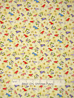 Paw Print Fabric - Happy Catz Kitty Bird House Yellow Red Rooster #25590 - Yard