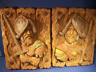 PAIR Vintage Spanish Conquistador Wall Hanging Universal Statuary Corp Chicago