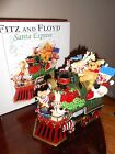 FITZ AND FLOYD HOLIDAY MUSICALS SANTA EXPRESS TRAIN W/TOYS