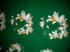 VINTAGE WILENDUR COTTON CHRISTMAS TABLECLOTH GREEN PINE CONES LOG CABIN 3