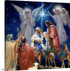 Premium Thick Wrap Canvas Wall Art entitled Nativity Collage