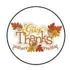 48 GIVE THANKS THANKSGIVING FALL ENVELOPE SEALS LABELS STICKERS 12 ROUND