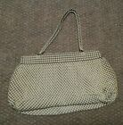 Davis Bags Metal White Enamel Purse 1940s era