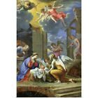 Poster Print Wall Art entitled Nativity 1667 oil on canvas
