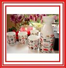 Japanese Sake Set 5 Pieces/set with Sushi Pattern Packed in a Gift Box