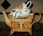 Paul Cardew Teapot Wash Basin Bathroom Sink Large Sign Ornate Cupboards Laundry!