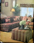Home Decor WAVERLY slipcover slip cover pattern pillows valance sectional
