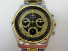 EBEL MODULOR VINTAGE S/STEEL AND GOLD CHRONOGRAPH AUTOMATIC DATE 40MM NICE!!