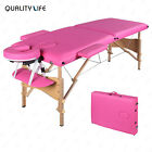 84L Pink Fold Portable Massage Table SPA Facial Beauty Folding Bed Carry Case