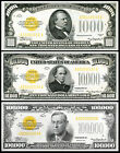 AMAZING Replica $1000, $10,000, $100,000 Gold Certificates 1934 Bank Note Copy